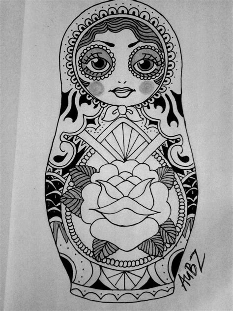 russian doll tattoo design pix for gt russian doll drawing babushka russian