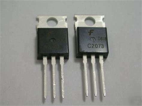 transistor npn c2073 pkg50 fairchild npn 2sc2073 c2073 out transistors