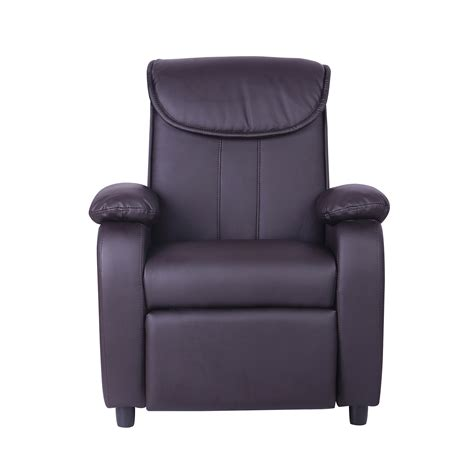 Childrens Faux Leather Armchair childrens faux leather padded reclining recliner