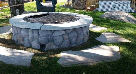 rock firepit hardscaping landscaping photos rotten rock hardscaping and tree service inc
