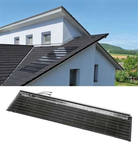 Panel Surya Untuk Satu Rumah solar cell berbentuk genteng rumah dari stafier