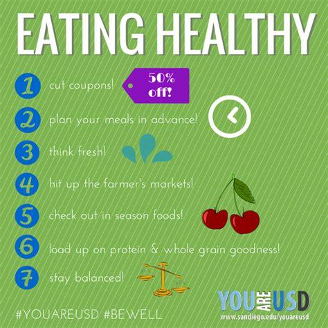 ways  eat healthy   college budget   usd