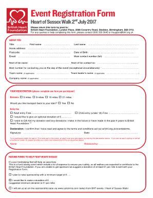 registration form template pdf event registration form template fillable printable