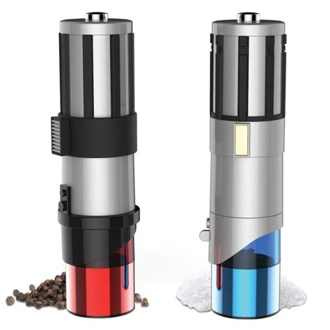 26 best images about cool salt and pepper shakers on wars lightsaber salt and pepper mills