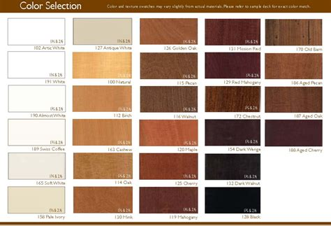 wood color chart