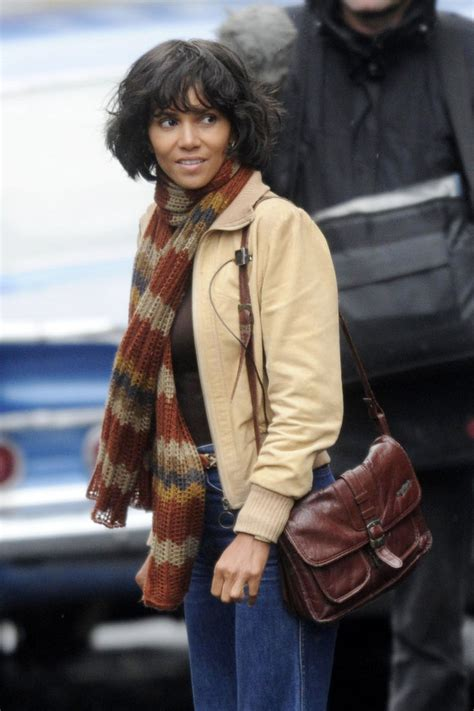 Halle Berry Warms Up by Halle Berry On The Set Of Quot Cloud Atlas Quot In Scotland Zimbio