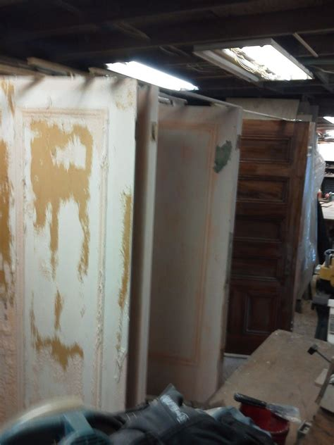 hand crafted refinished antique fir room divider doors and