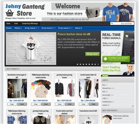 template blog toko online wordpress template toko online blogspot gratis
