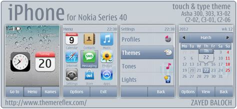 iphone themes for nokia 2690 iphone 40 series themes themereflex