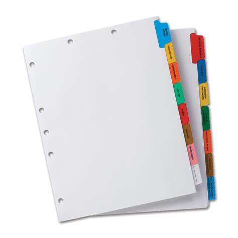 binder section dividers image gallery notebook tabs