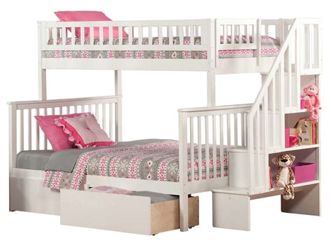 White Staircase Bunk Bed Woodland Staircase Bunk Bed White Ab56702