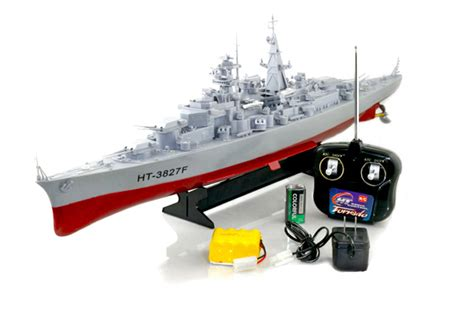 rc boats battleships 28 quot battleship military rc boat grey ht3827 b27 radio