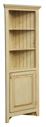 Corner Kitchen Hutch Cabinet Amish Corner Cabinet Pantry Hutch Bathroom Kitchen Solid Wood Country Distressed Ebay
