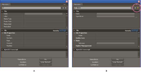 adobe premiere pro xmp ayuda de adobe premiere pro gesti 243 n de metadatos
