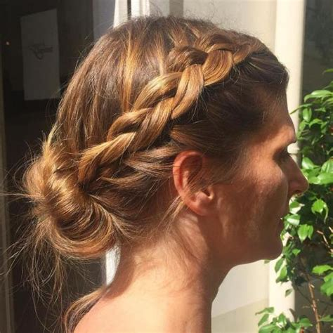 hair plait with chopstick 40 quick and easy short hair buns to try