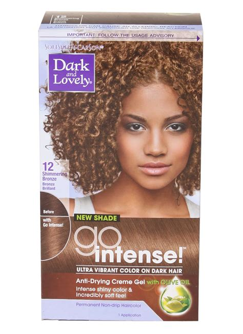 dark and lovely hair chart with face color dark and lovely go intense hair color 12 shimmering