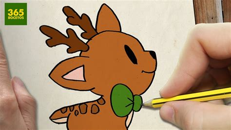 dibujos de navidad paso a paso como dibujar un ciervo para navidad paso a paso dibujos kawaii navide 241 os how to draw a deer