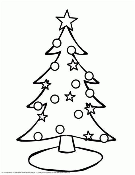 christmas tree printable coloring pages christmas tree