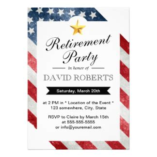 Military Invitations Announcements Zazzle American Flag Invitation Template