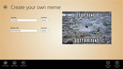 Custom Meme App - meme generator for windows 8 and 8 1