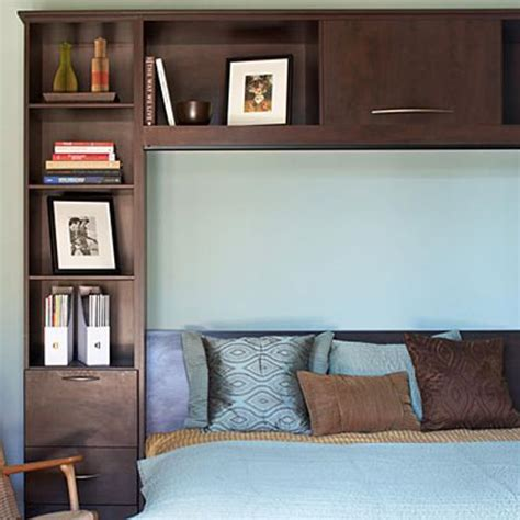 great idea use a flaxa headboard storage unit as a side 10 modern ideas for small bedroom design and decor