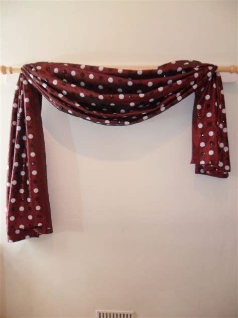 ways to drape a scarf the first great way to hang your scarf swag curtains