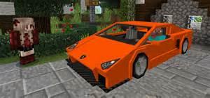 sports car lamborghini add on minecraft pe mods addons