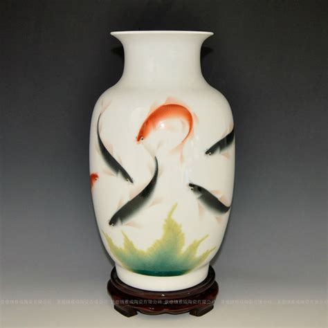How To Paint A Ceramic Vase by Amazing Artist Painted Ceramic Fish Vase With