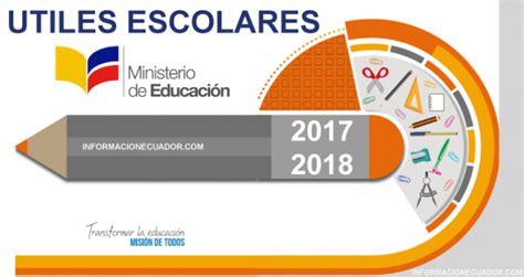 ministerio de educacion listas de utiles dado para el nuevo ao 2016 2017 lista de 218 tiles escolares 2018 2019 mineduc completo costa