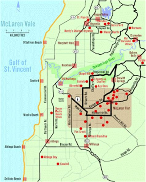 mclaren vale south australia wine region where the vines