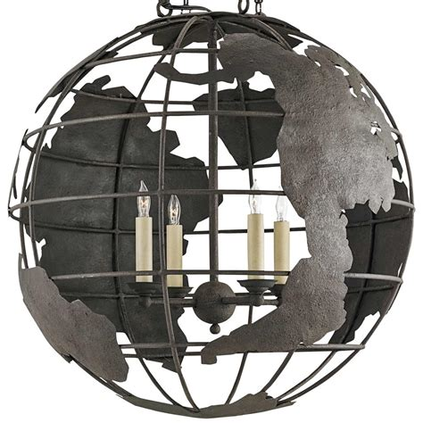 Wrought Iron Globe Chandelier Peary Industrial Loft Wrought Iron Globe Chandelier