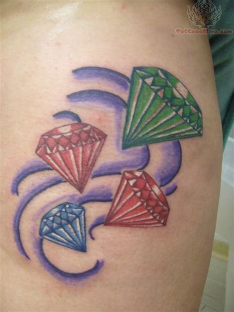 tattoo diamond green green diamond tattoo designs for girl tattoos