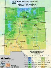 usda plant hardiness map for new mexico