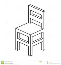 Black Dining Room Set With Bench Chair Outline Stock Photo Image 38707510
