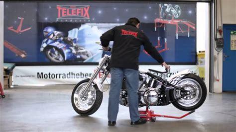 Motorrad Berwintern Garage by Www Telefix Products De Chopperheber Mit Rangierfahrwerk