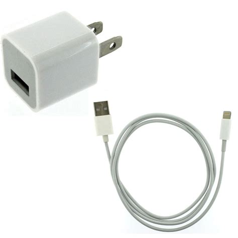 5 iphone charger home wall ac charger 8 pin to usb data cable for iphone 5 ipod touch 5 nano 7 ebay