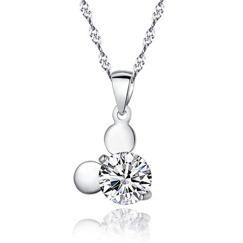 Sterling Silver Pendant Necklace genuine sterling 925 silver pendant necklace jewelry with