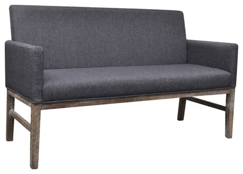 couch bench bench couch sofa modern wooden sofa bench with padded seat