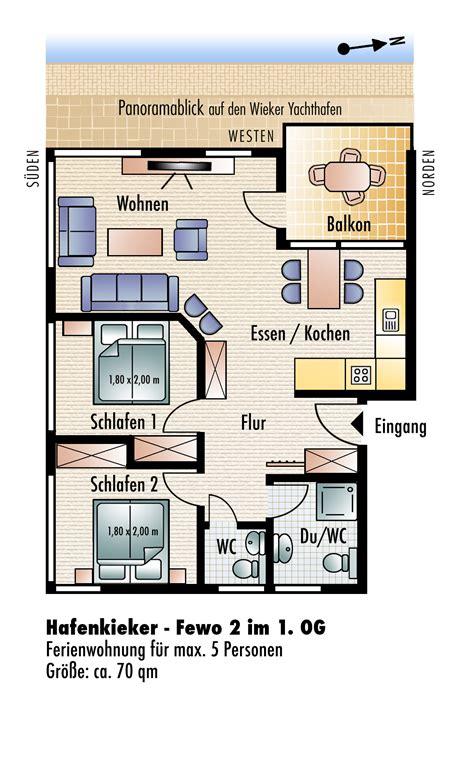 2 schlafzimmerapartment grundrisse das haus yachthafenkieker komfort ferienwohnungen mit