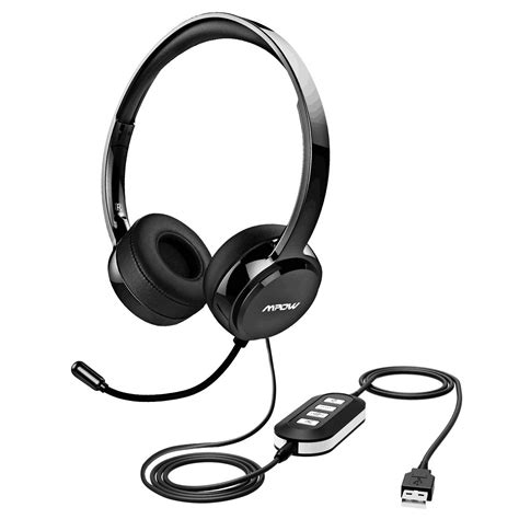 Headset Bluetooth Pc mpow pc headset 3 5mm usb headset with noise cancelling