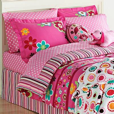 bed in a bag twin girl bright pink girls flowers twin comforter sheet set 6
