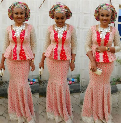 nigerian aso ebi fashion styles 2016 skirt and blouse styles african women unique and stylish