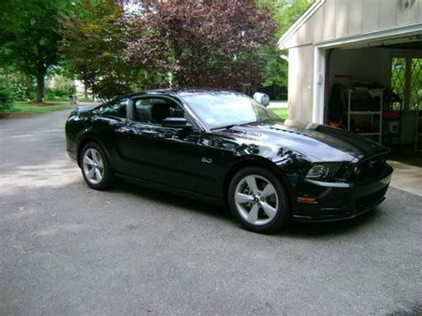 ford mustang 2013 manual buy used 2013 ford mustang gt premium black on black