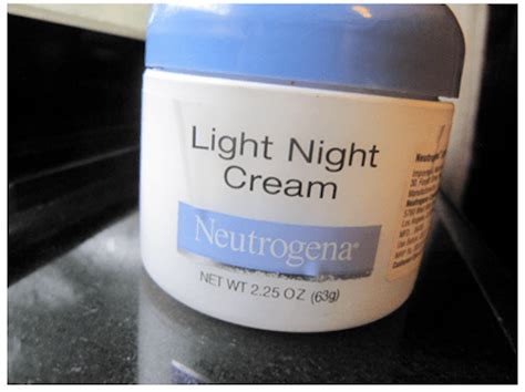 neutrogena light night cream skin care neutrogena light night cream review