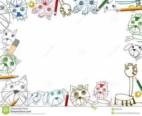 sketchbook color child sketchbook background with color pencils frame