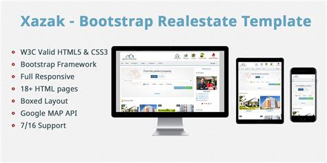 bootstrap templates for property xazak bootstrap real estate template html ecommerce