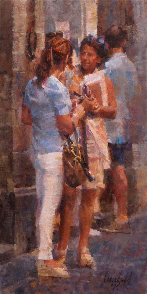people painting quot two ladies quot james crandall oil on canvas contemporary