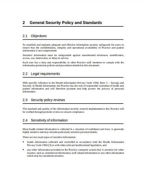 information system security plan template security plan template