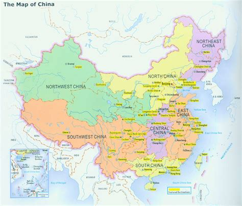 physical map of china physical map