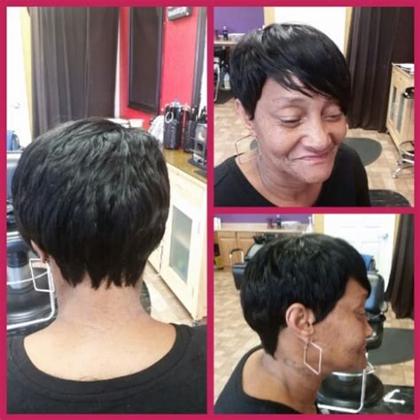 short feathered sew in weave sew in weave feathered bob and bangs design short